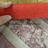 El rojo del rodillo 0.7m m del suelo del vinilo sentía detrás el suelo del rodillo del PVC