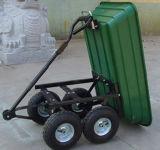 Chariot en acier de décharge de jardin de chariot de service de jardin