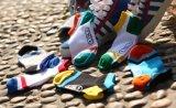 Fabrik gibt Form-Freizeit-Baumwollsocken der Großhandelsmänner an