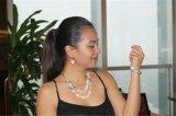 Herrliche Schmucksache-Sets mit Harz-und Shell-Halskette und Ohrringen und Armband