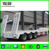 반 60 톤 탑재량 3 차축 낮은 평상형 트레일러 트레일러 낮은 침대 트럭 트레일러