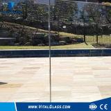 verre de barrière de verre feuilleté en verre Tempered en verre de flotteur d'espace libre de 6mm