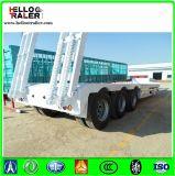 Dell'Tri-Asse della strumentazione di trasporto di Lowbed rimorchio pesante semi con la scaletta idraulica