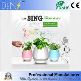 Haut-parleur sec de pointe de bacs de fleur de musique de contact avec le haut-parleur et l'éclairage LED de Bluetooth