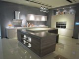Module de cuisine de mélamine de meubles de cuisine avec la porte de Module de PVC (zc-063)