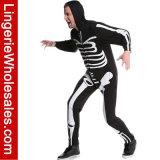 Costume squelettique de Cosplay de fantaisie de procès de corps de l'impression des hommes pour l'usager de Veille de la toussaint