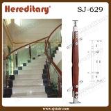 Balaustre de madera de acero de interior para el pasamano de cristal de interior (SJ-629)