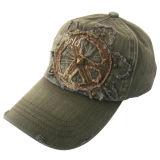 La vente chaude a lavé la casquette de baseball avec le logo grunge de regard