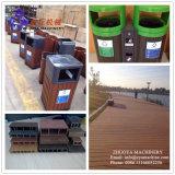 Linha de produção do equipamento do Decking de WPC/linha do equipamento para fazer o assoalho plástico de madeira