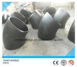 Codo inconsútil del acero de carbón Sch40 45degree