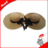 Sombrero de mujer, sombrero de disquetera, sombrero de papel, sombrero de paja, sombrero de moda