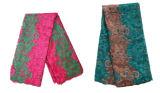 새로운 디자인 프랑스 레이스 자주색 신부 수를 놓은 Tulle 레이스 직물 프랑스 레이스 직물. 최신 나이지리아인 레이스