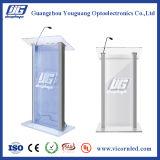 Kundenspezifisches Firmenzeichen auf LED-Lesepult-hellem Kasten