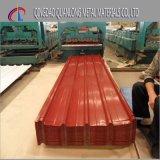 Hoja de acero acanalada prepintada para el uso del material para techos