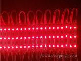 o diodo emissor de luz 0.72W de 75*12mm 3PCS SMD5050 Waterproof a lâmpada do módulo do diodo emissor de luz do RGB para anunciar a letra