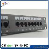 Cat5e LED Änderung- am Objektprogrammpanel 1u 19 '' 24 Krone-Umhüllungen der Kanal-RJ45, Stahländerung- am objektprogrammpanel des panel-24port