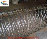 電流を通されたかみそりの有刺鉄線