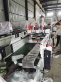 Dois linha saco do t-shirt da selagem da parte inferior da estaca fria que faz a máquina