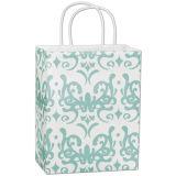 Classicality Aqua-Käufer-Qualitäts-Papier-Einkaufstasche angepasst für berühmte Marke