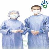 Vêtements chirurgicaux attentifs de fournitures médicales de robe chirurgicale de procès remplaçable de /Scrub/exécution de matériau non-tissé de tissu