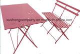La silla del diseño simple Table+ fijó con hierro en metal y madera