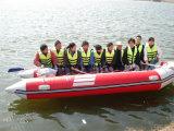Bateau gonflable pliable de bateau remorquable de sports aquatiques de Liya 2m-6.5m