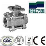 Válvula de esfera sanitária do aço inoxidável 3PC (IFEC-BV100013)