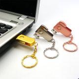 Вспышка USB ручки памяти металла USB 2.0 управляет приводом пер ручки USB Pendrives 4GB 8GB 16GB 32GB 64GB с ключевой цепью