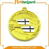 Medaglia di oro personalizzata con il nastro di modo