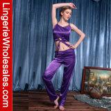 Stück-Nachtzeug-Emulation-Seide-Brücke-Pyjamas der Frauen reizvolle zwei eingestellt