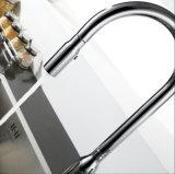 A placa sanitária do cromo dos mercadorias retira a torneira da cozinha