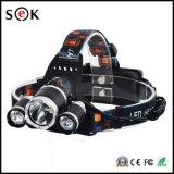 고성능 3000 루멘 T6 30W 알루미늄 재충전용 Zoomable LED 맨 위 램프