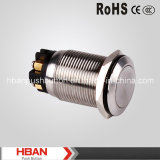 CE RoHS Momentary Latching Vandalproof Push Button Switch de Hban (19mm)