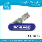 Regalo superiore di promozione di vendita 32 GB della parte girevole del USB di azionamento di plastica dell'istantaneo