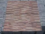 Pierre rouge de pile de panneau de mur d'ardoise de quartzite de vente chaude
