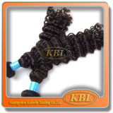 Venda quente Kinky do cabelo Curly do Virgin da classe 7A
