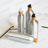 Aluminiumshampoo-Lotion-Flasche mit Bambuslotion-Pumpe (PPC-ACB-026)