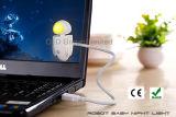 조정가능한 거위 목 모양의 관을%s 가진 USB LED 밤 빛 로버트 아기 밤 빛