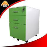 Fábrica de venda direta de 3 gavetas de aço móvel arquivador de gabinete