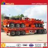 3 Aanhangwagen van de Vrachtwagen van het Platform van assen de Semi met de Sloten van de Container