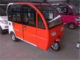 普及した電力車、乗客の三輪車