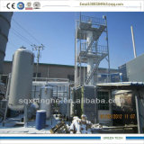 De negatieve Druk Gebruikte Installatie van de Distillatie van de Olie van de Raffinage van de Olie van de Motor 15tpd