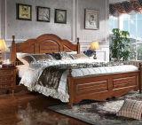 固体木のベッドの現代ダブル・ベッド(M-X2261)