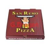 Het drievoudige Vakje van de Pizza van Kraftpapier van de Laag van Document Duurzame (pizz-008)