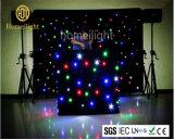 Ledjの星のカーテンのRGBWの組合せの四色刷4*6m RGBの星の背景幕が付いているきらめくマトリックスLEDの布