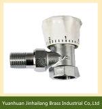 Valvola di angolo termostatica d'ottone del radiatore di Yuhuan