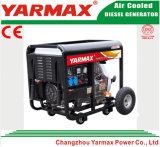 Lucht van Yarmax koelde de Enige Diesel van het Frame van de Dieselmotor van de Cilinder Open Reeks van de Generator Genset Ym6500ea