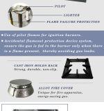 fornello dell'acciaio inossidabile dell'intervallo di gas del piano d'appoggio 6-Burner (HGR-66)