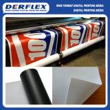 Bandiera solvibile parte posteriore bianca/nero di Frontlit della flessione del PVC di media