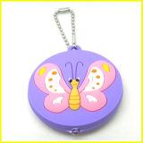 Бирка красивейшей мягкой бабочки PVC СИД ключевая с цепью шарика
